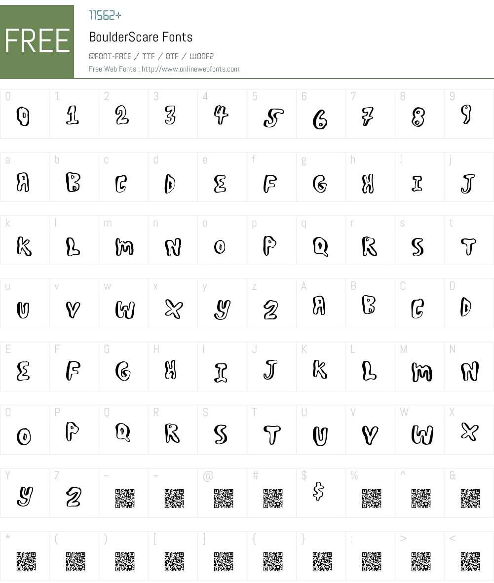 BoulderScare Font Screenshots