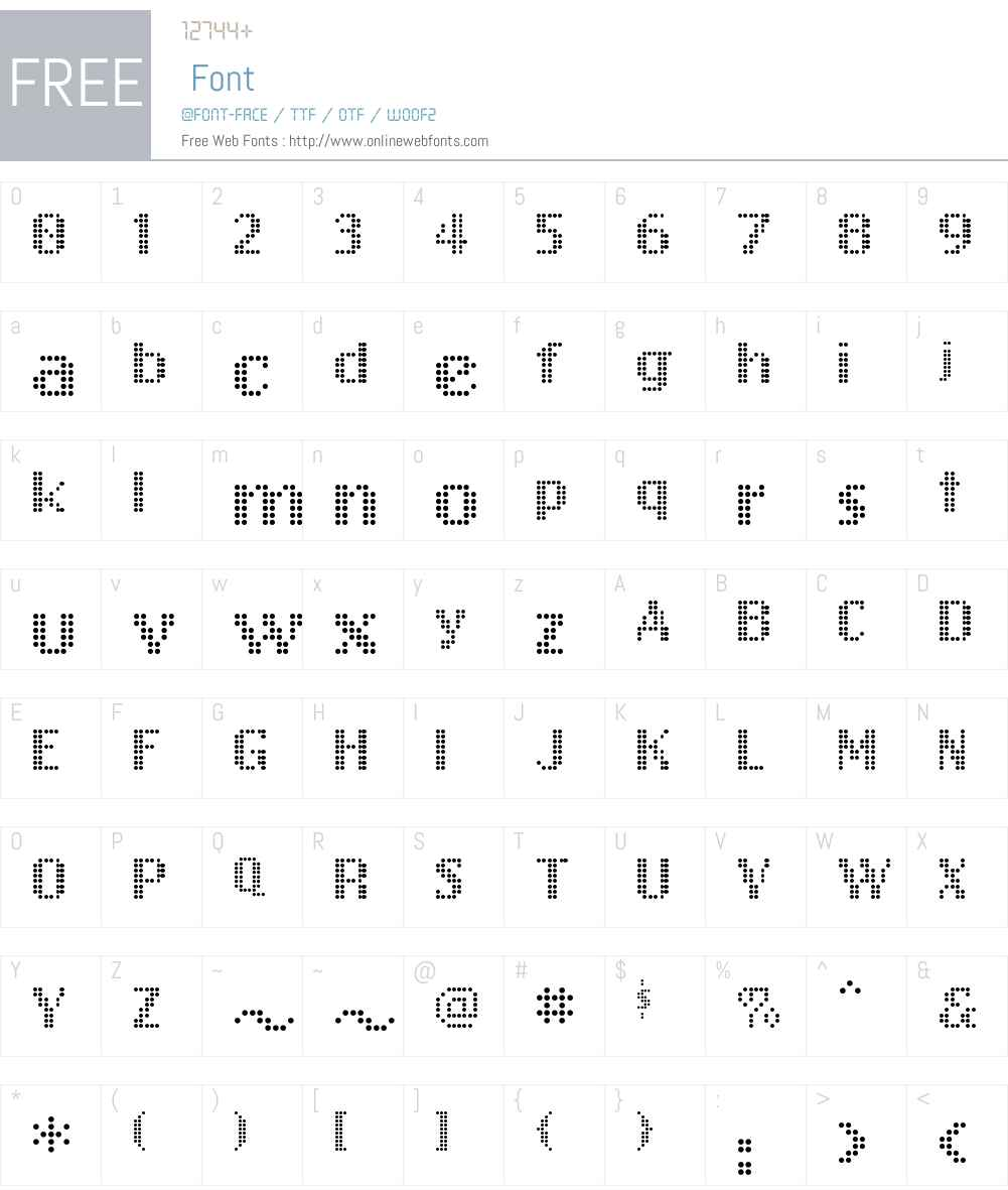 FreeDesign001Bitbit Font Screenshots