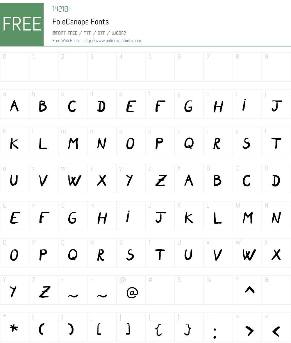 FoieCanape Font Screenshots
