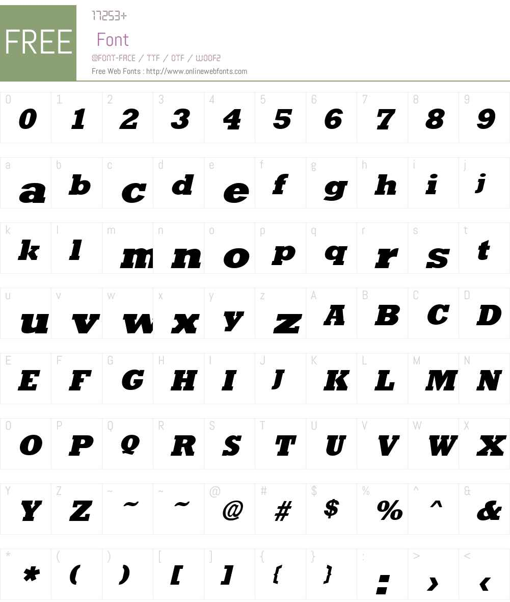 Rockney Extrabold Font Screenshots