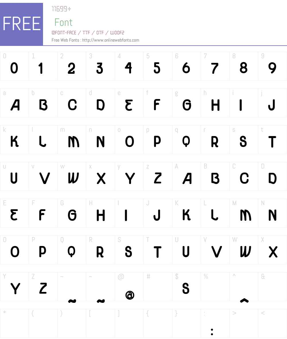 vtks unidade ultra bold Font Screenshots