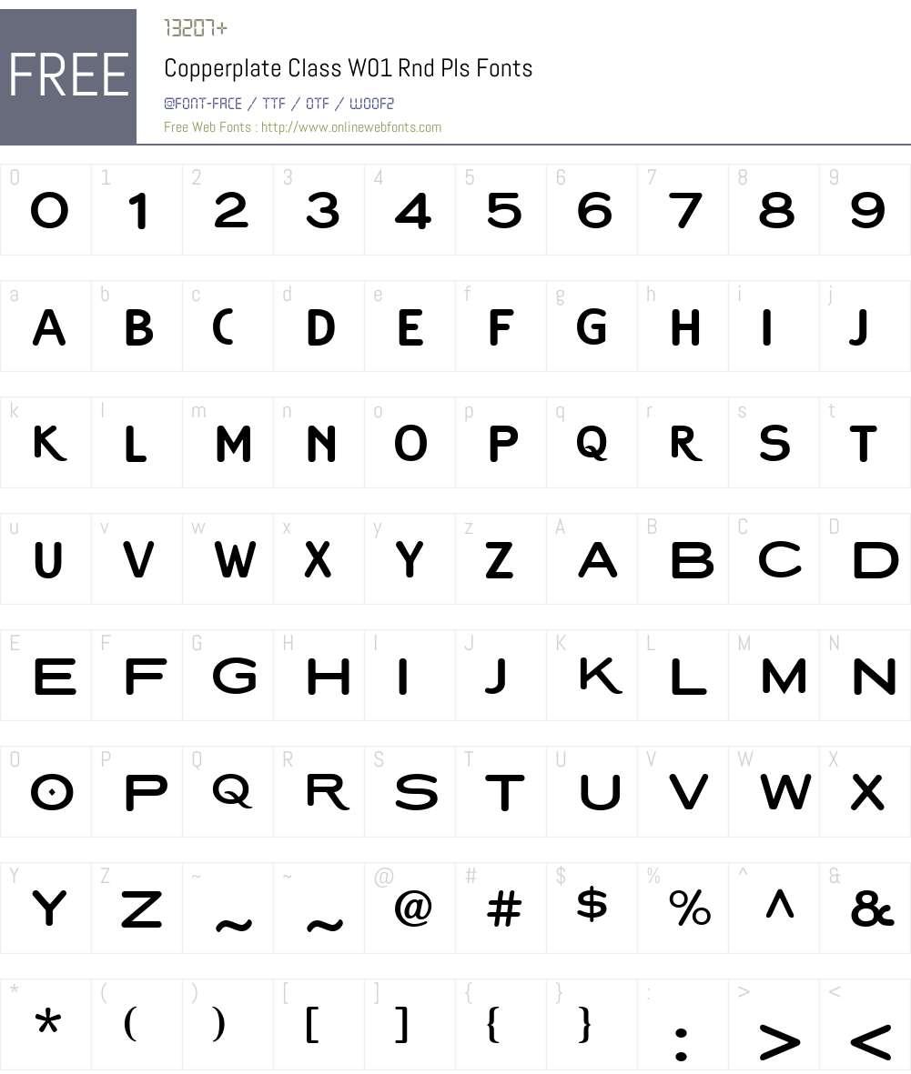 CopperplateClassW01-RndPls Font Screenshots