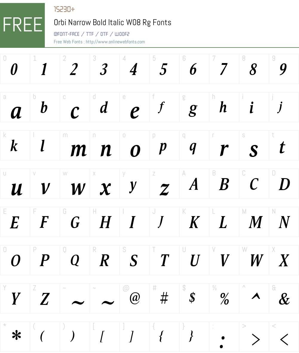 Orbi Font Screenshots