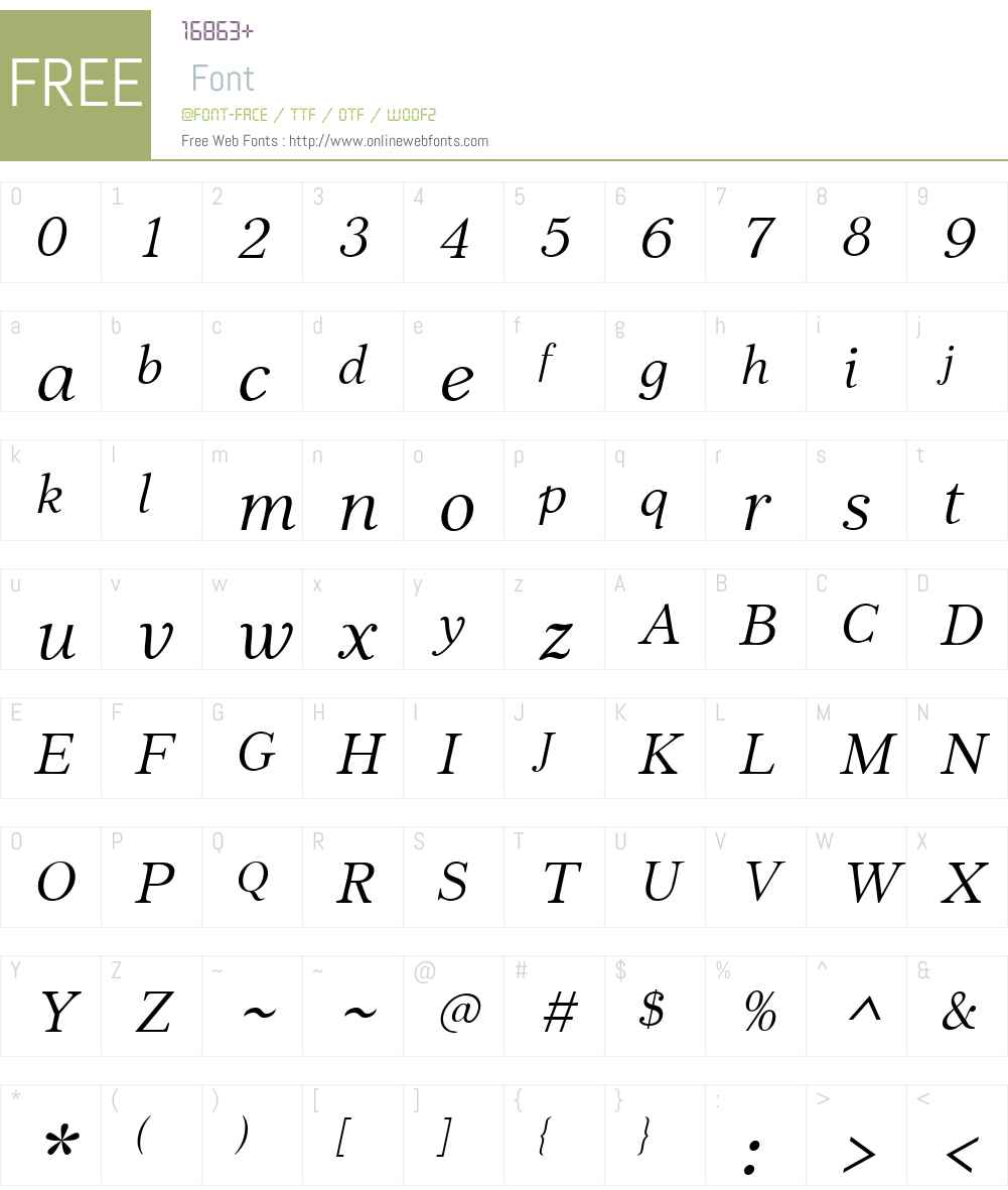 JabcedHyW01-Italic Font Screenshots