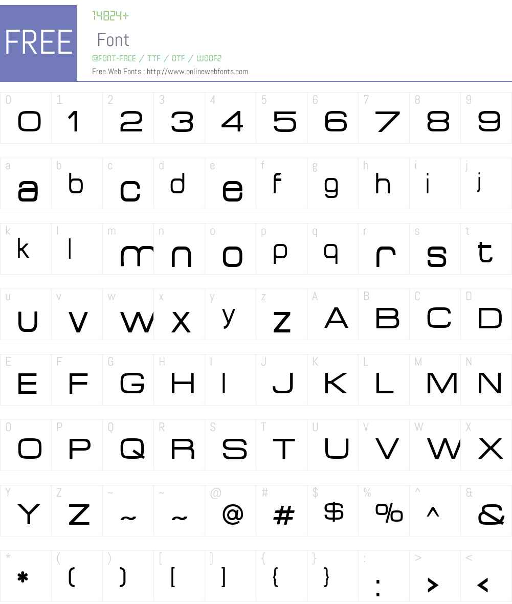 Acens Font Screenshots