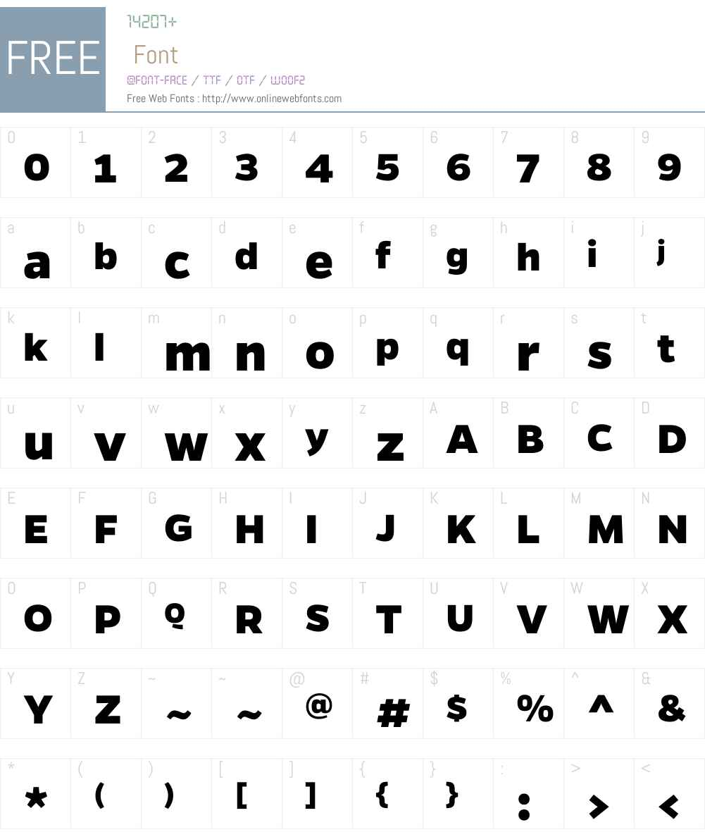 GentonaW00-ExtraBold Font Screenshots