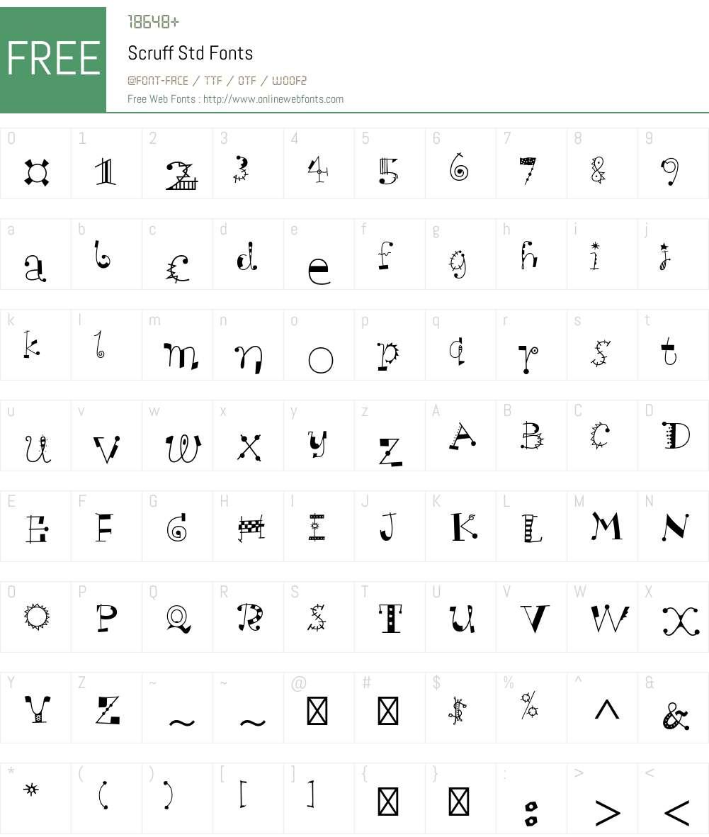 Scruff Std Font Screenshots