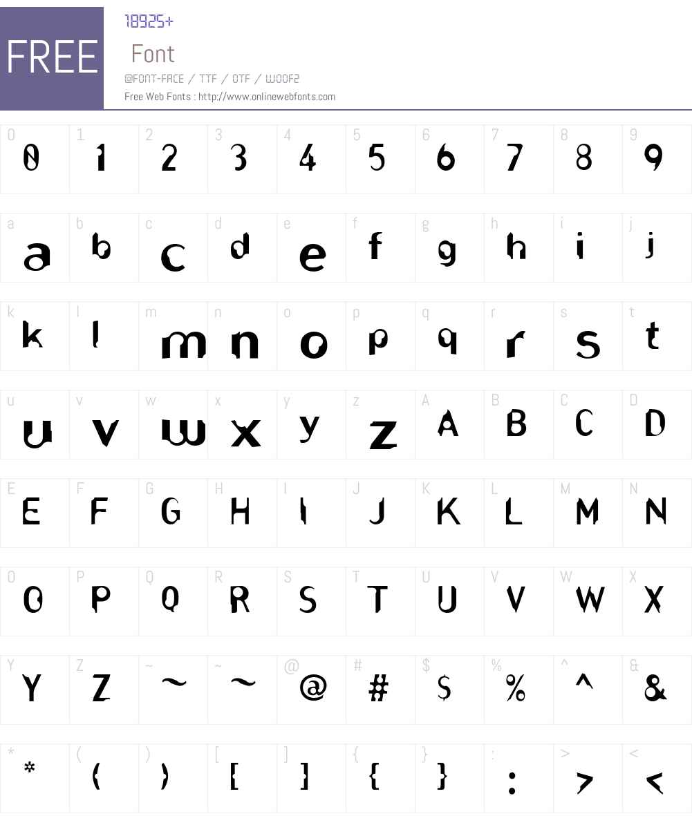 RIDdler Font Screenshots