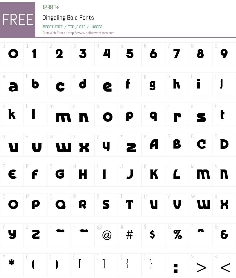 Dingaling Font Screenshots