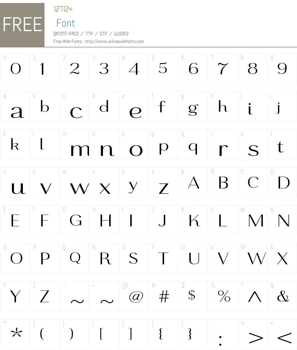 GrenaleW01-ExtRegular Font Screenshots