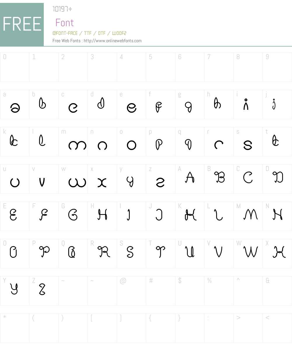 Digital Handmade Font Screenshots