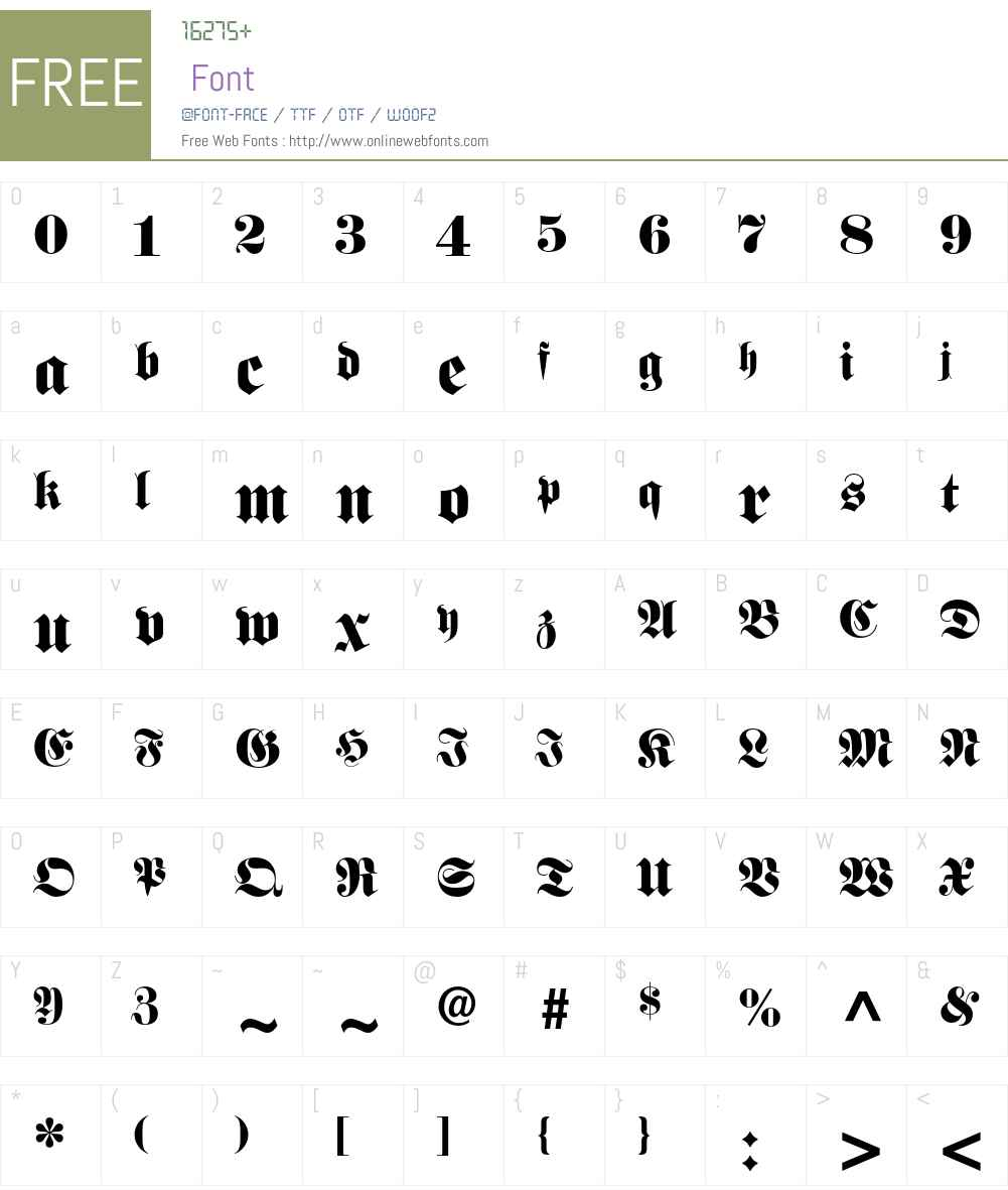 Fette Fraktur LT Std Font Screenshots