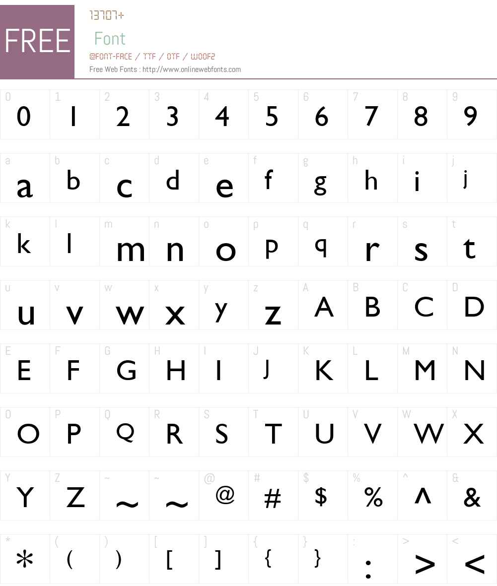 GillSans Font Screenshots