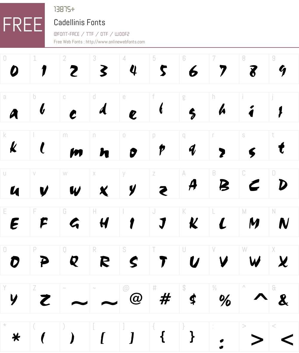 Cadellinis Font Screenshots