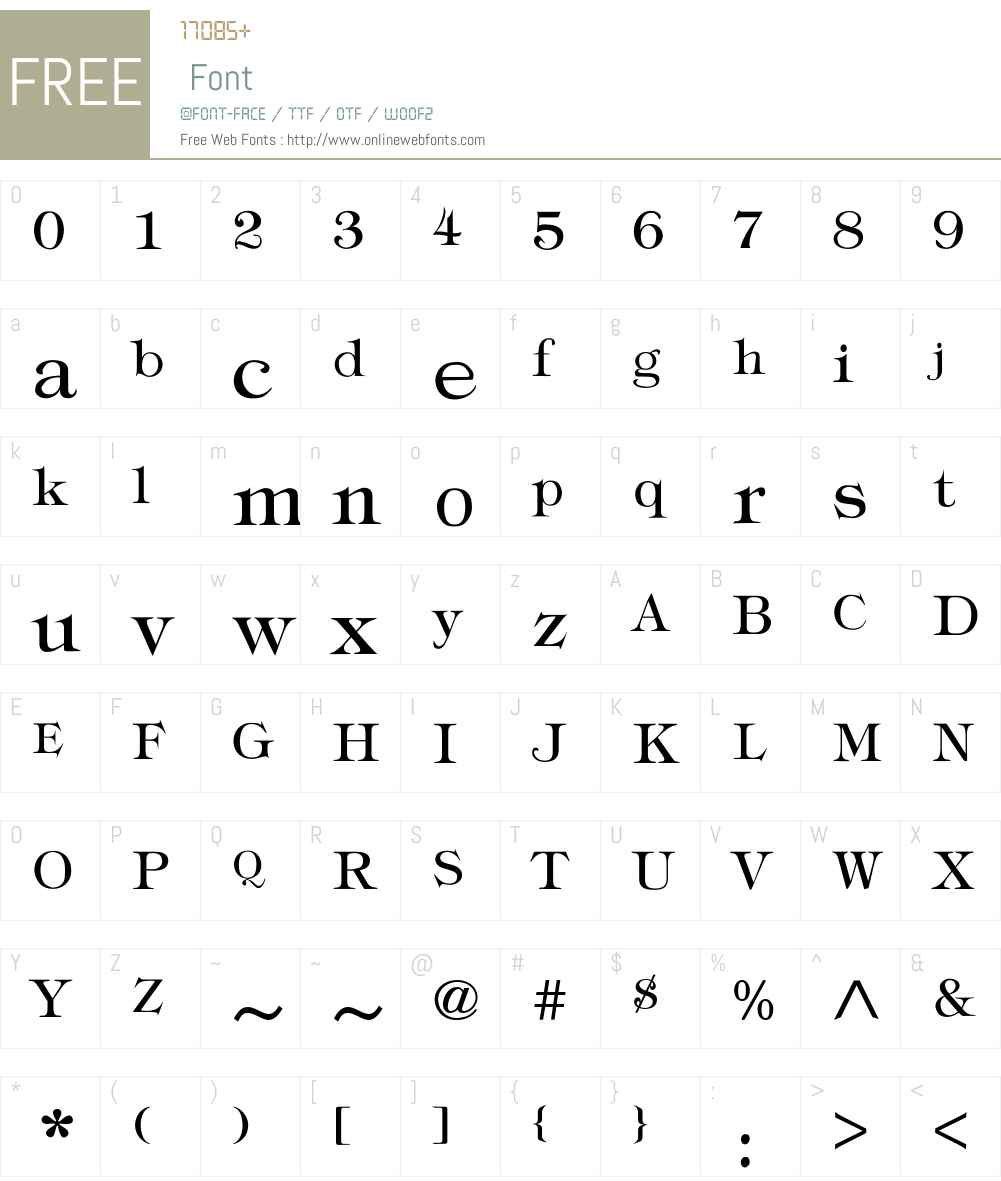Typography times Font Screenshots