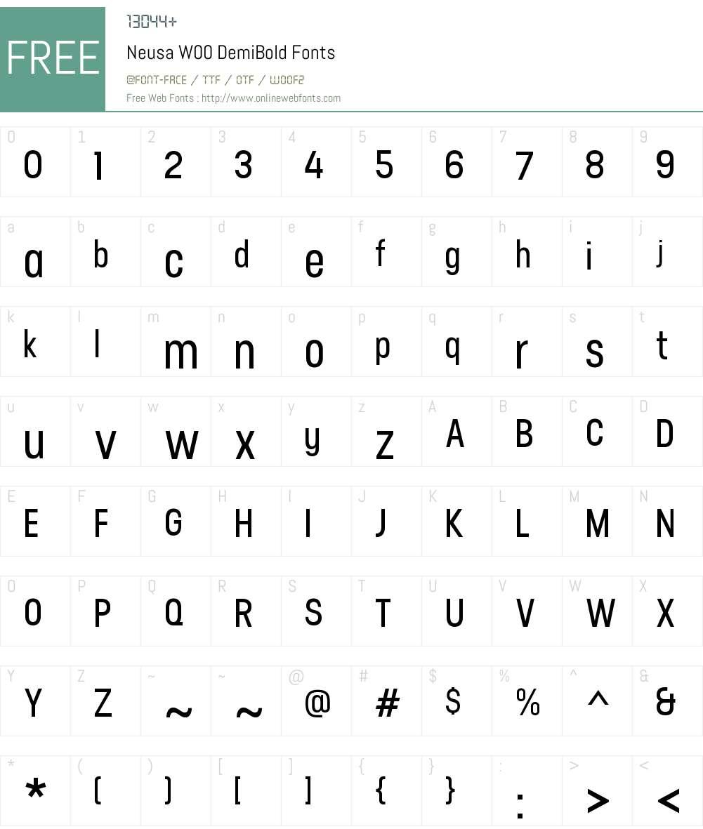 NeusaW00-DemiBold Font Screenshots