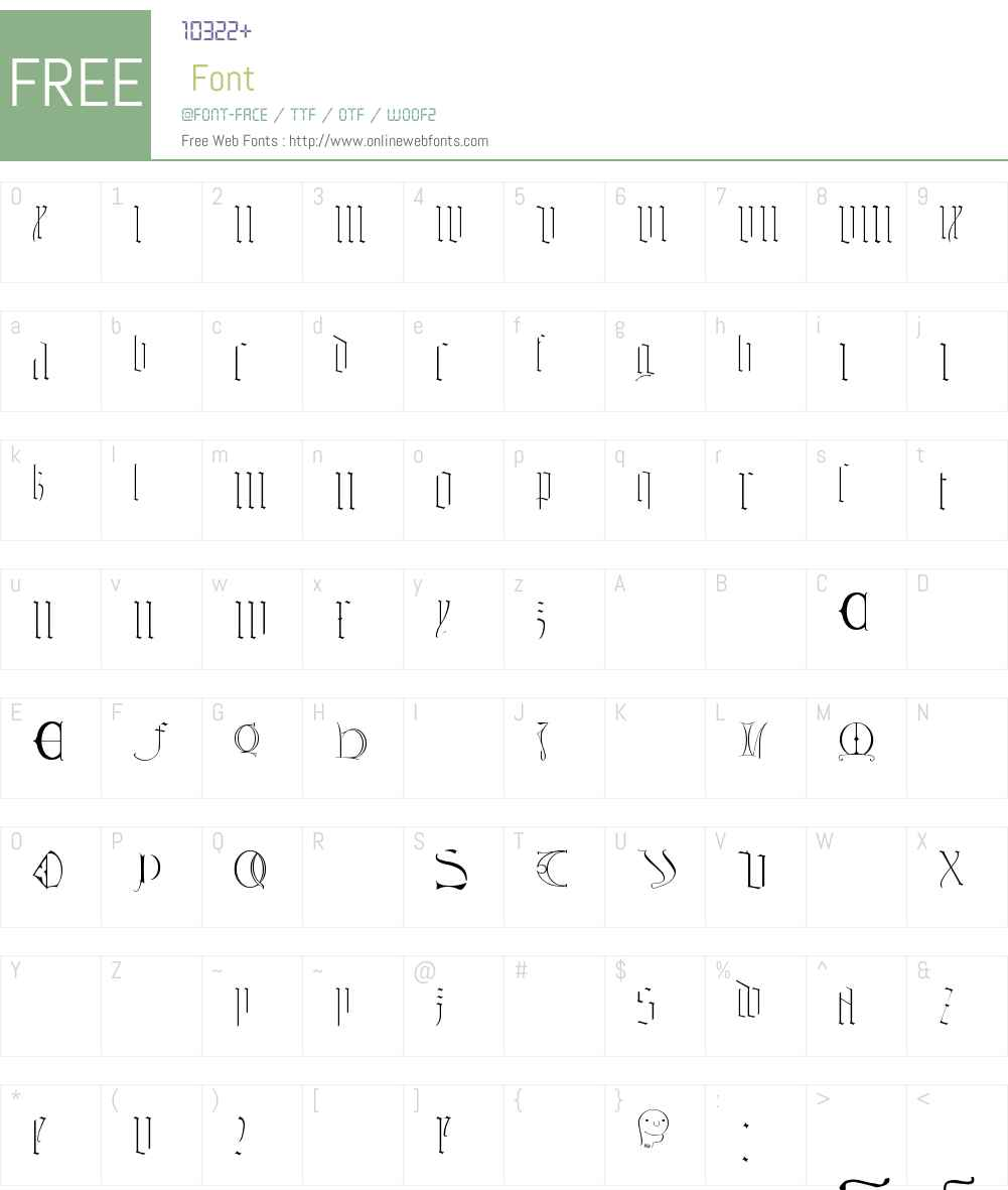 Tombale Font Screenshots