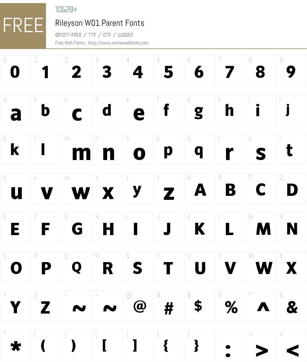 RileysonW01-Parent Font Screenshots