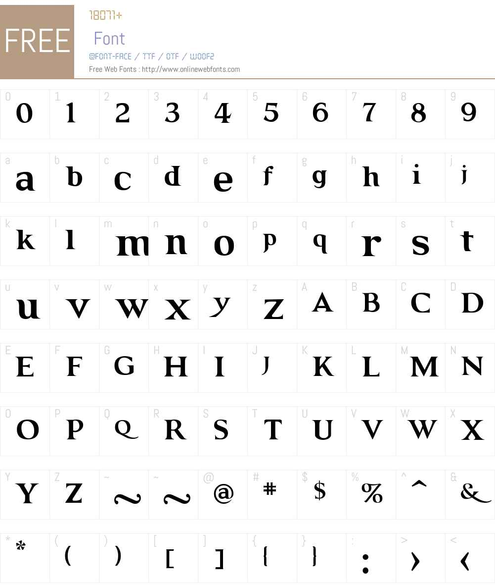 GRENDEL Font Screenshots
