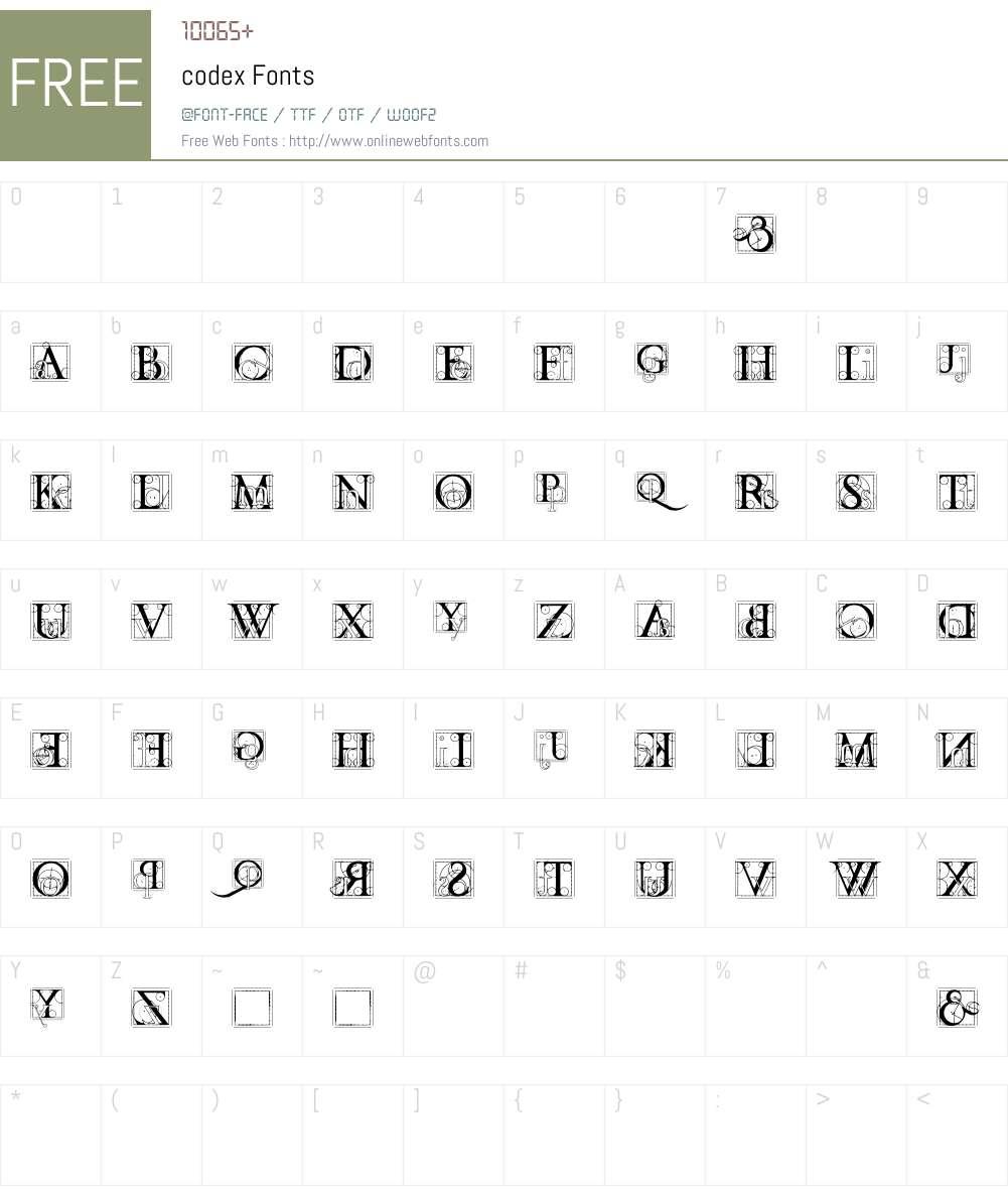 codex Font Screenshots