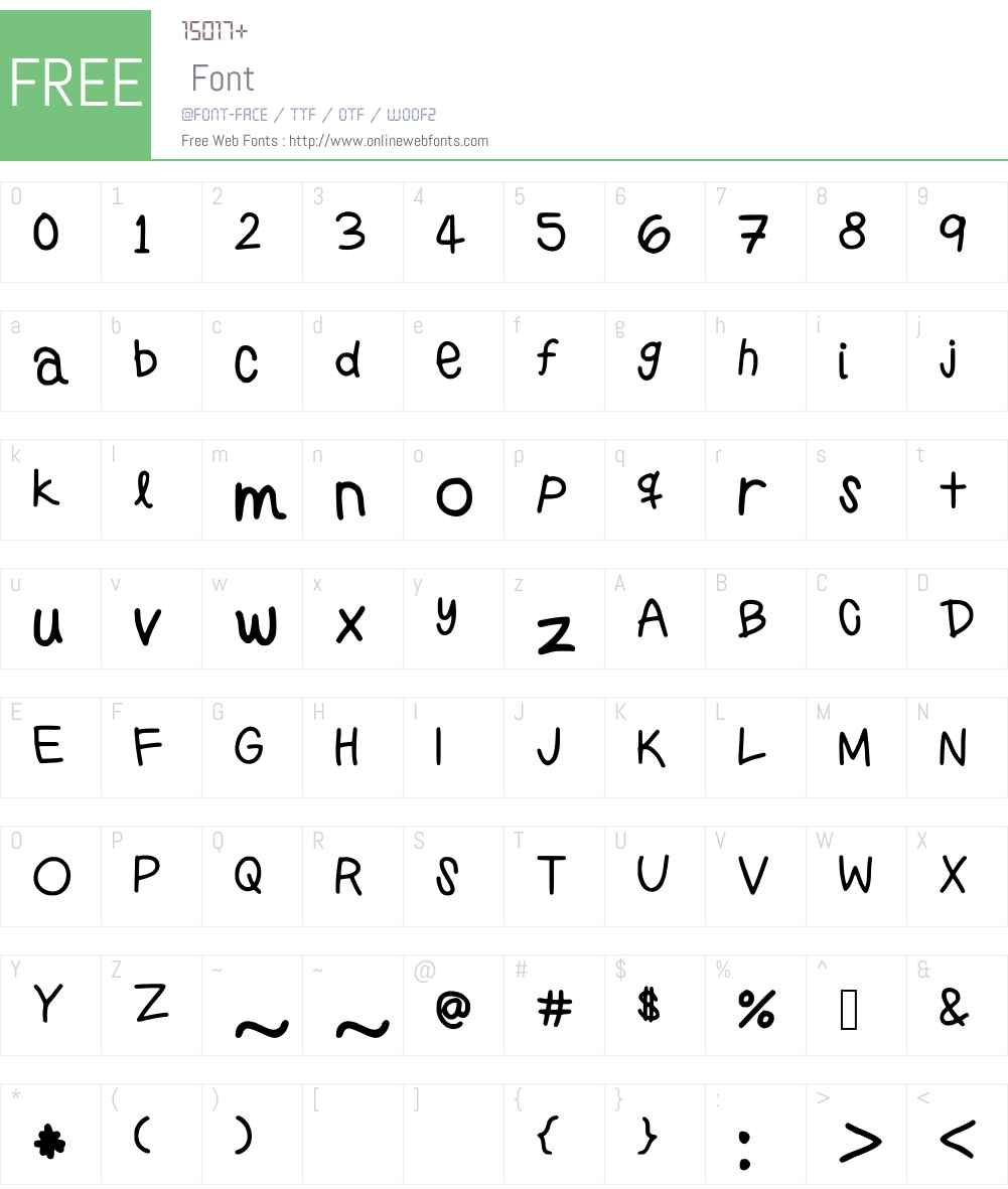 PreppyGirlsHandwriting Font Screenshots