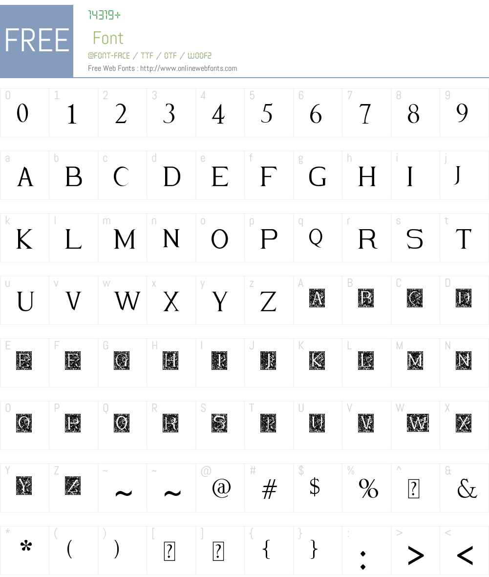 Merlot Font Screenshots
