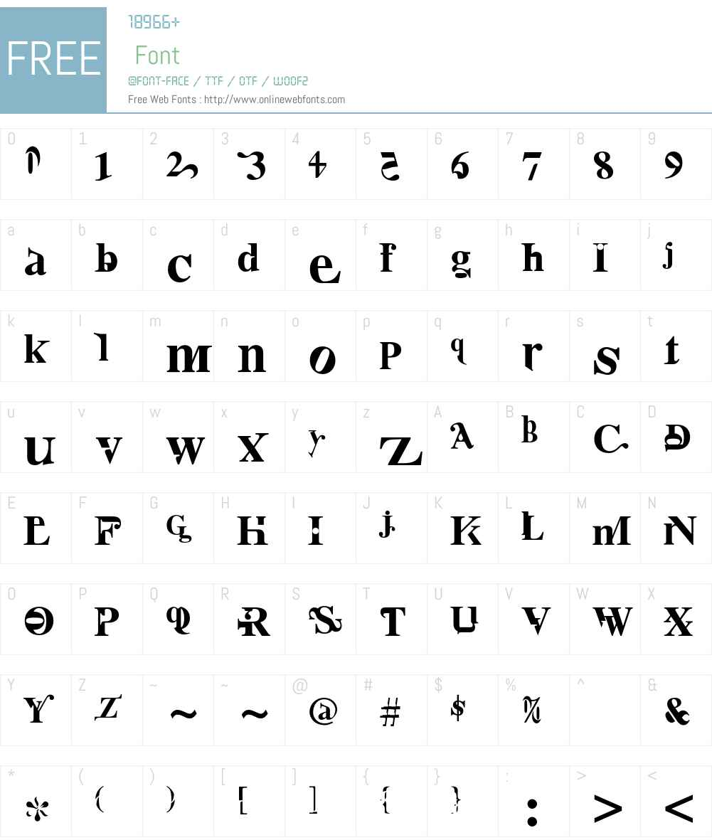 NurseRatchet Font Screenshots