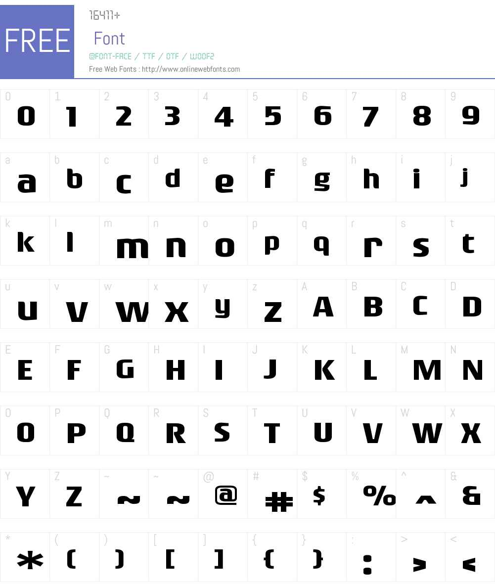 RogueSansExtW00-Bold Font Screenshots