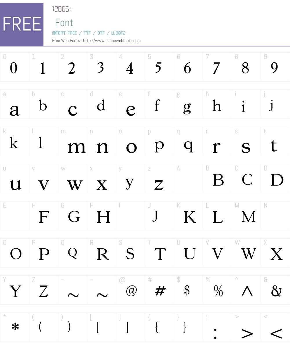 GoudY38Book Font Screenshots