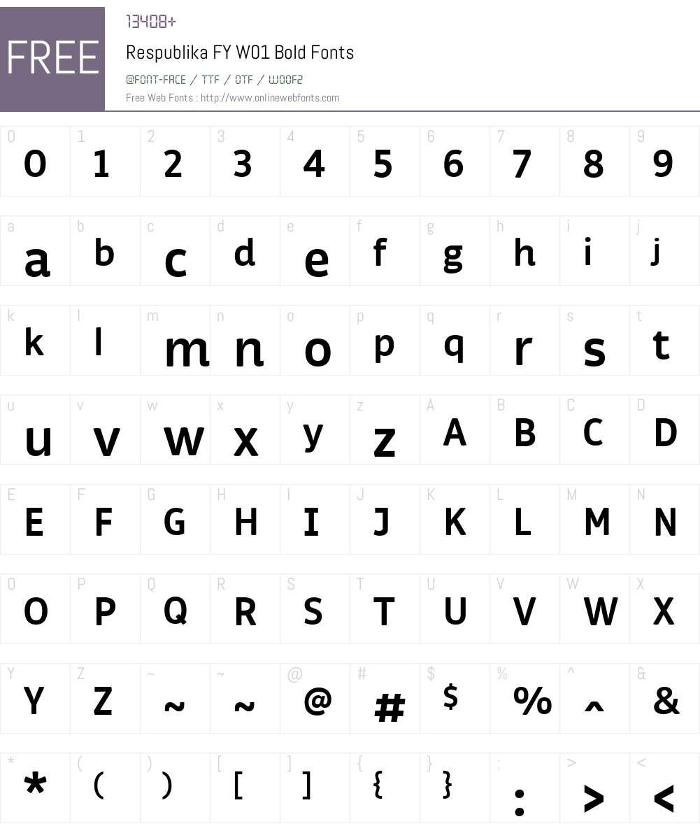RespublikaFYW01-Bold Font Screenshots