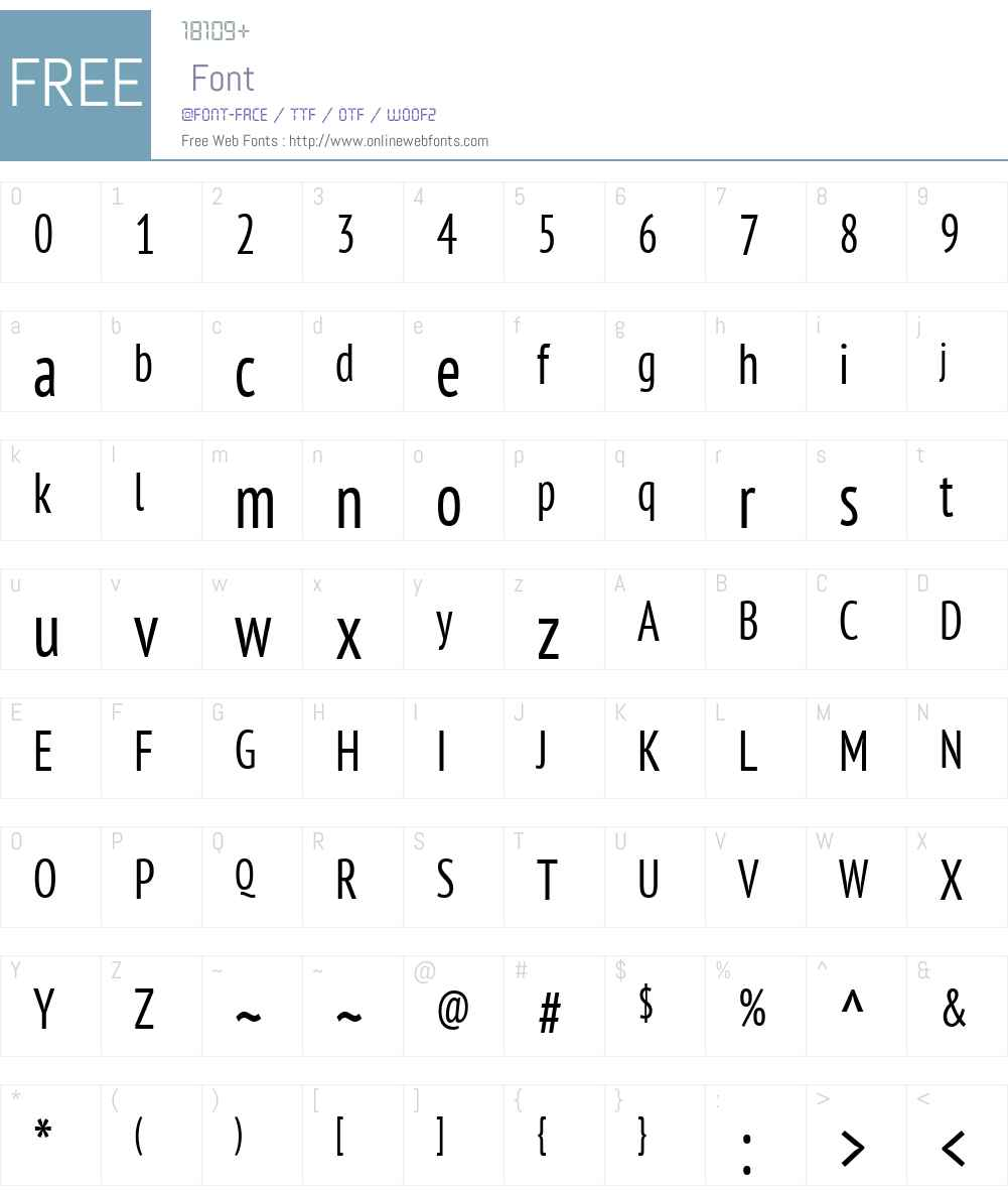 PTSansW01-CondRegular Font Screenshots