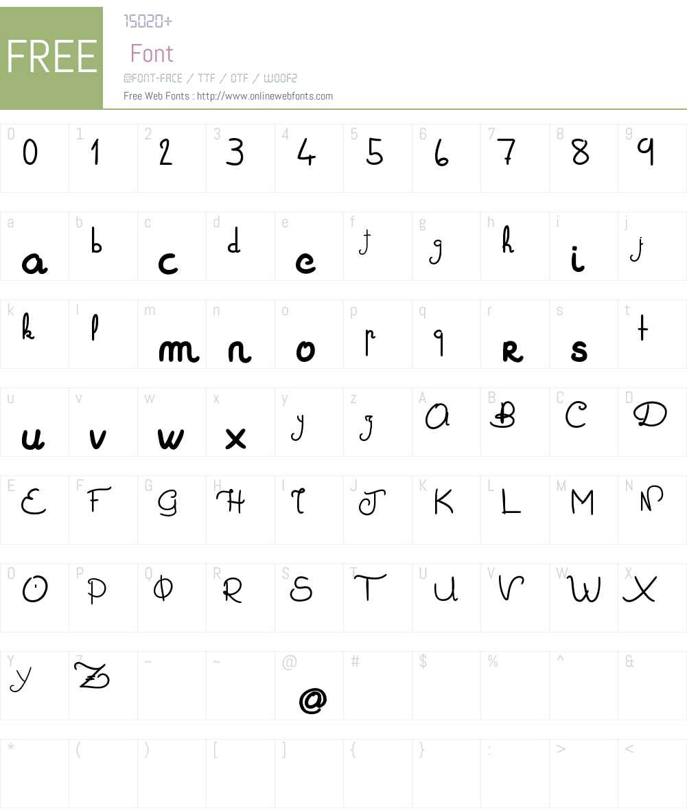 Zoa Elephantesque Font Screenshots