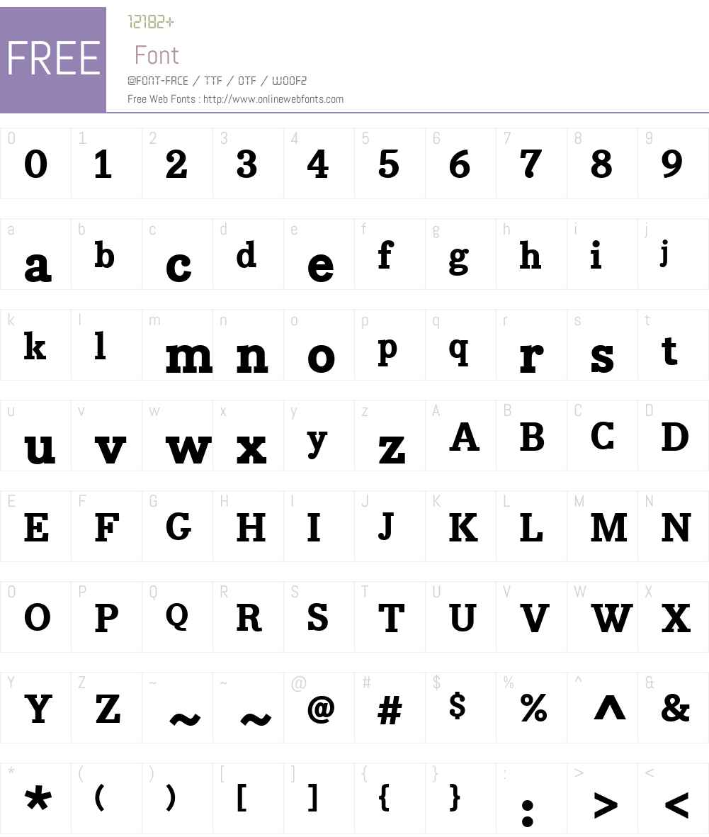 BodoniEgyptW01-ExtraBold Font Screenshots