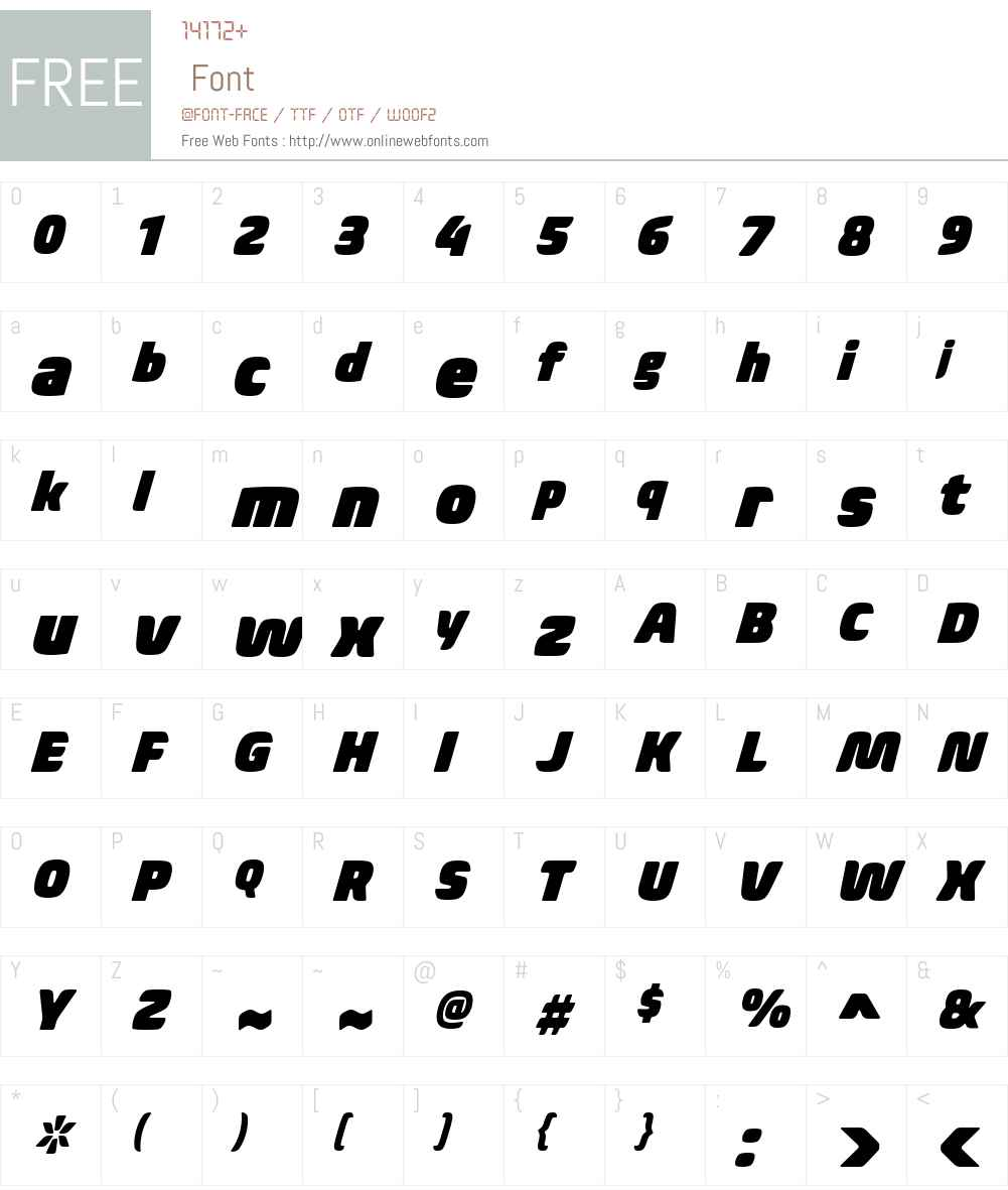 BiomeW01-NarrowUltraItalic Font Screenshots