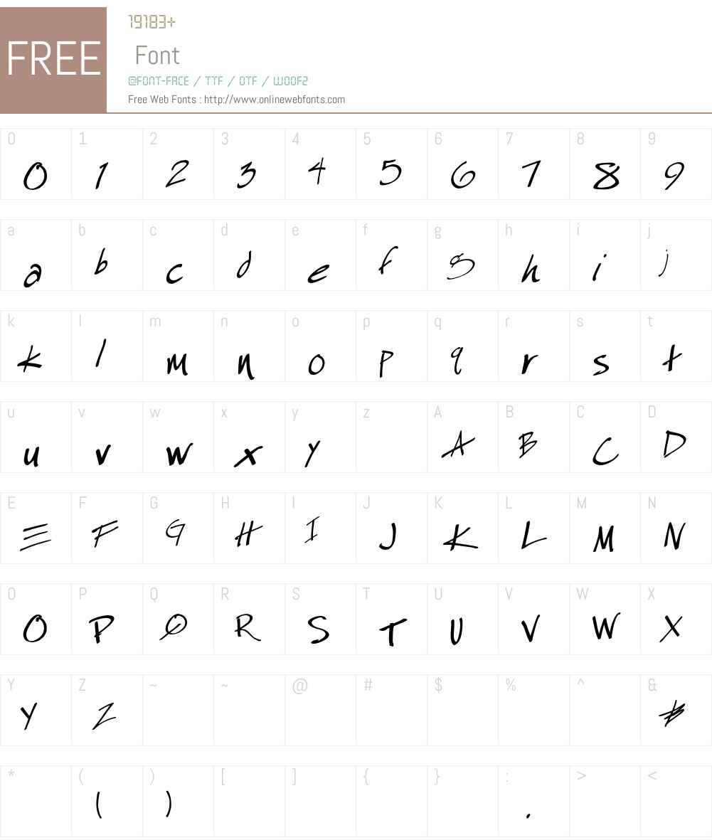 EspecialKayDemo Font Screenshots