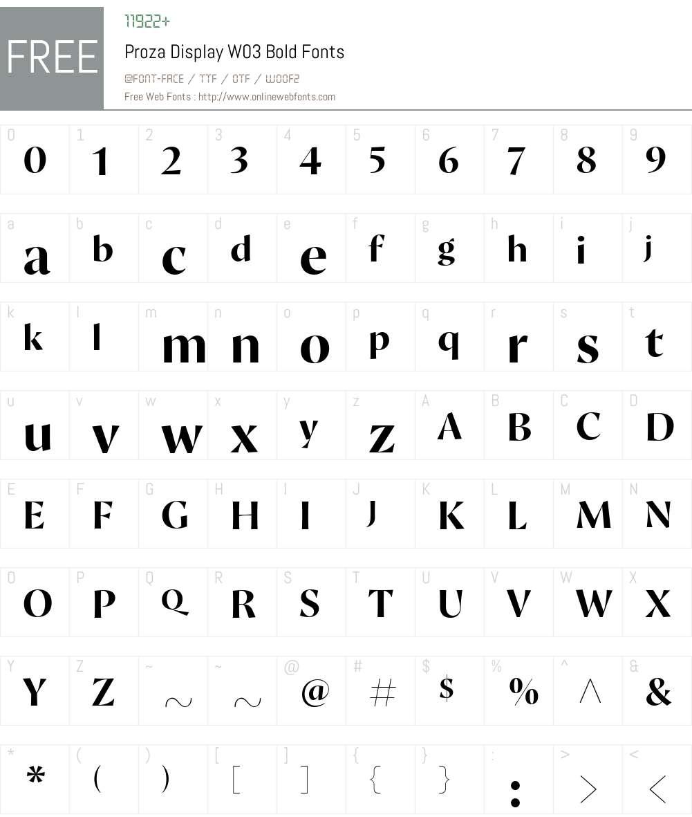 Proza Display Font Screenshots
