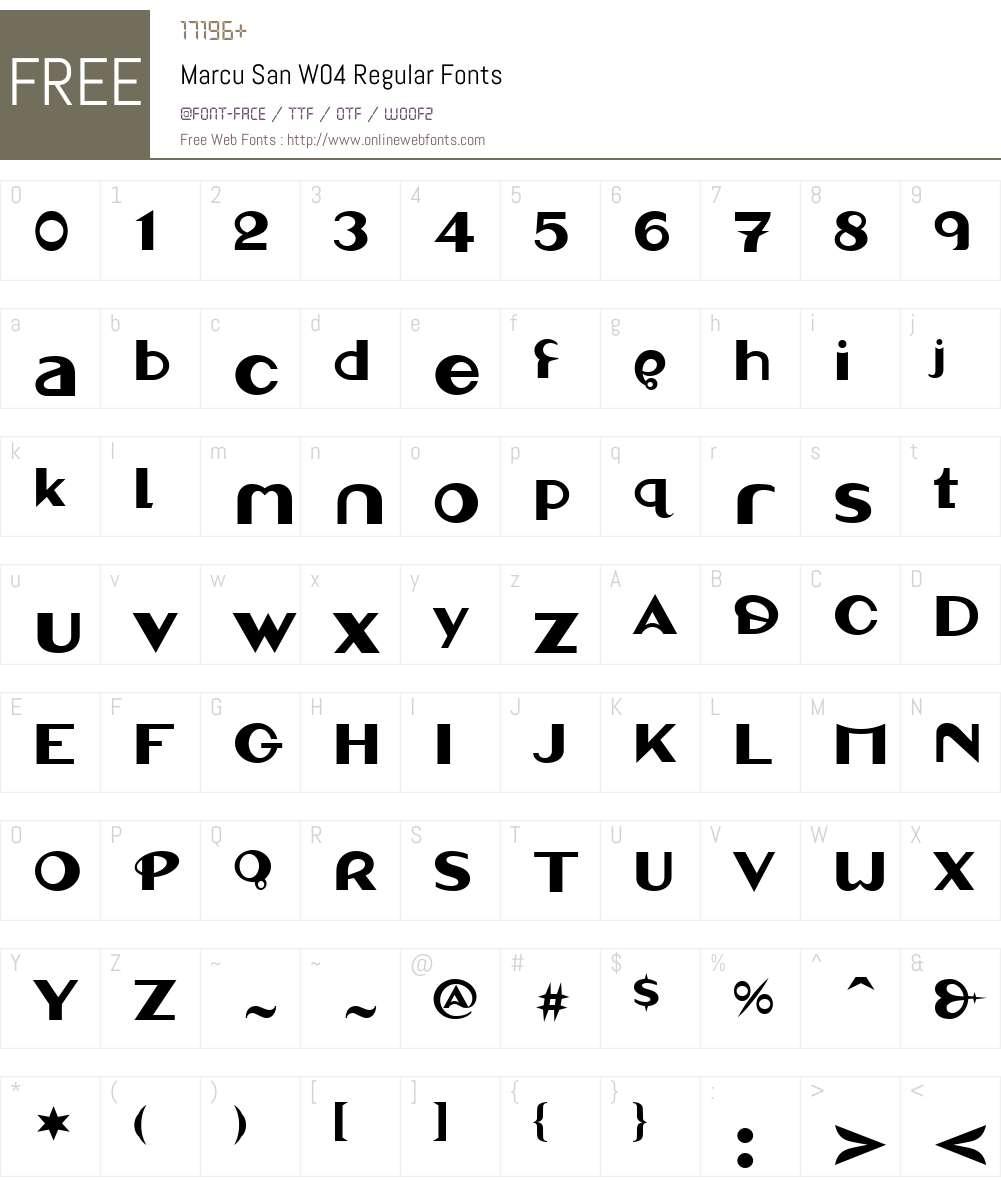 Linotype Marcu San Font Screenshots