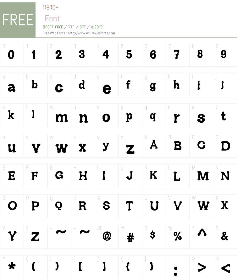 Ariendezze Font Screenshots
