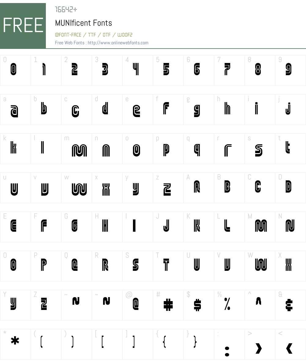MUNIficent Font Screenshots