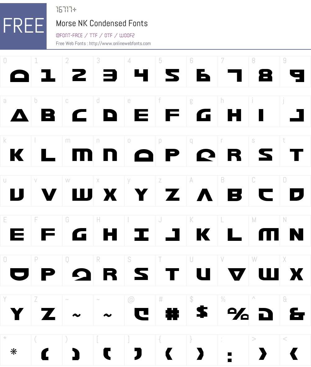 Morse NK Condensed Font Screenshots