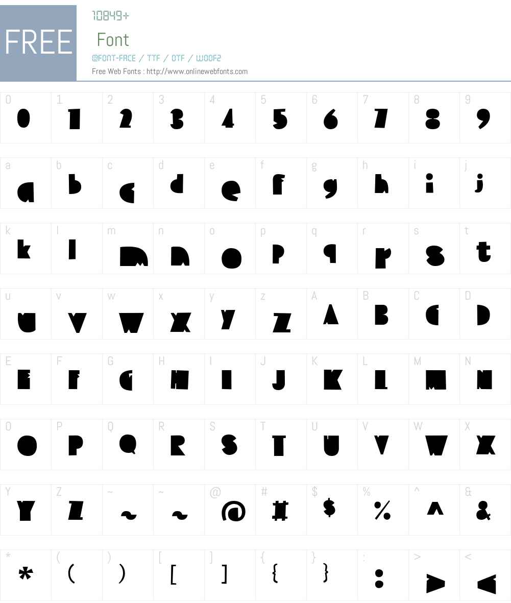 EmbryoW01-Regular Font Screenshots