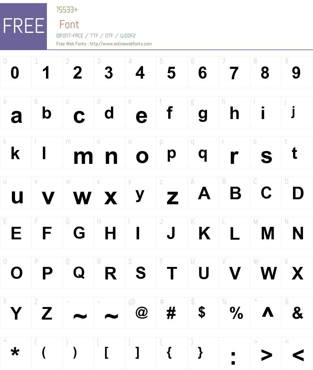 ArialW01-Bold Font Screenshots