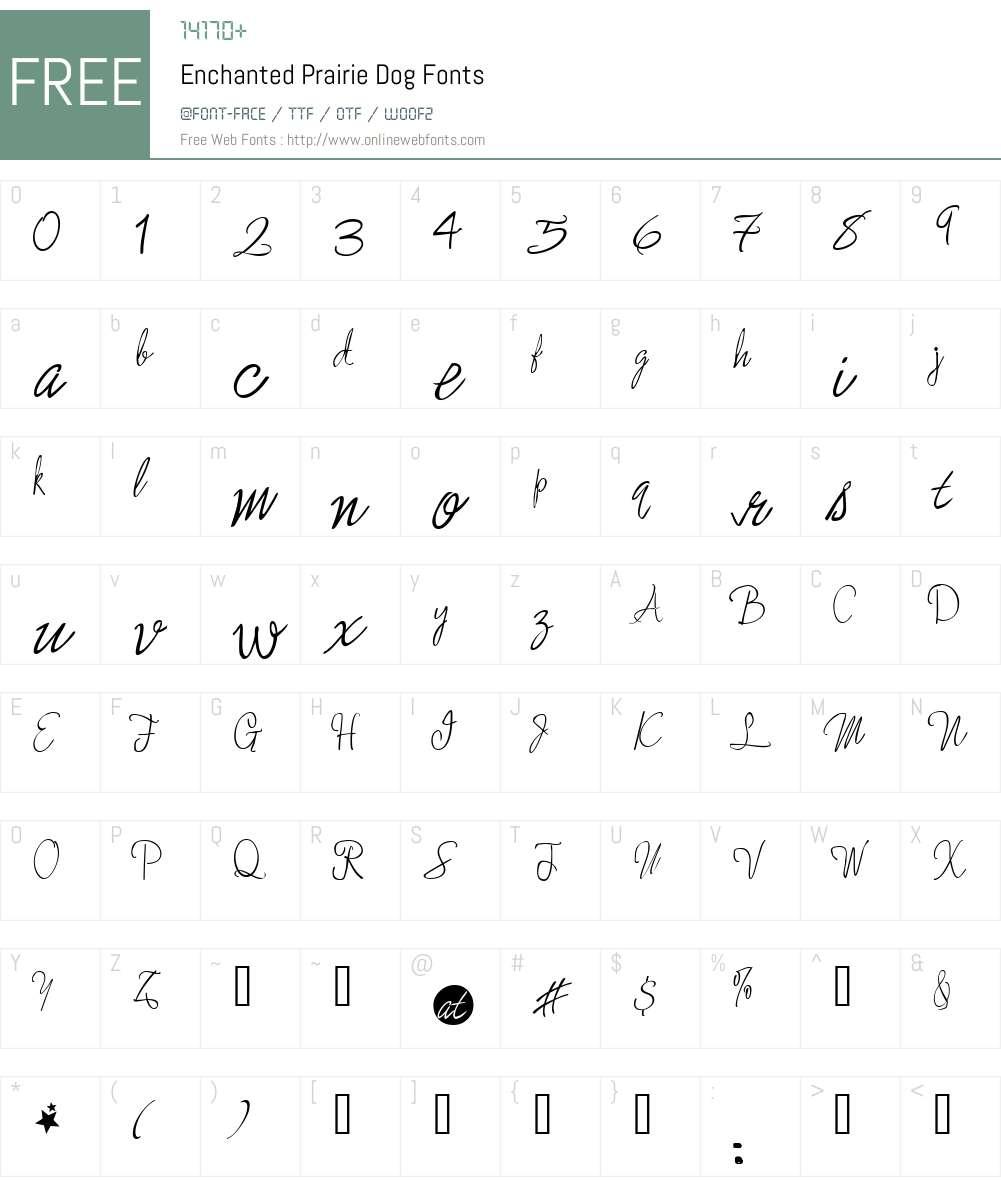 Enchanted Prairie Dog Font Screenshots