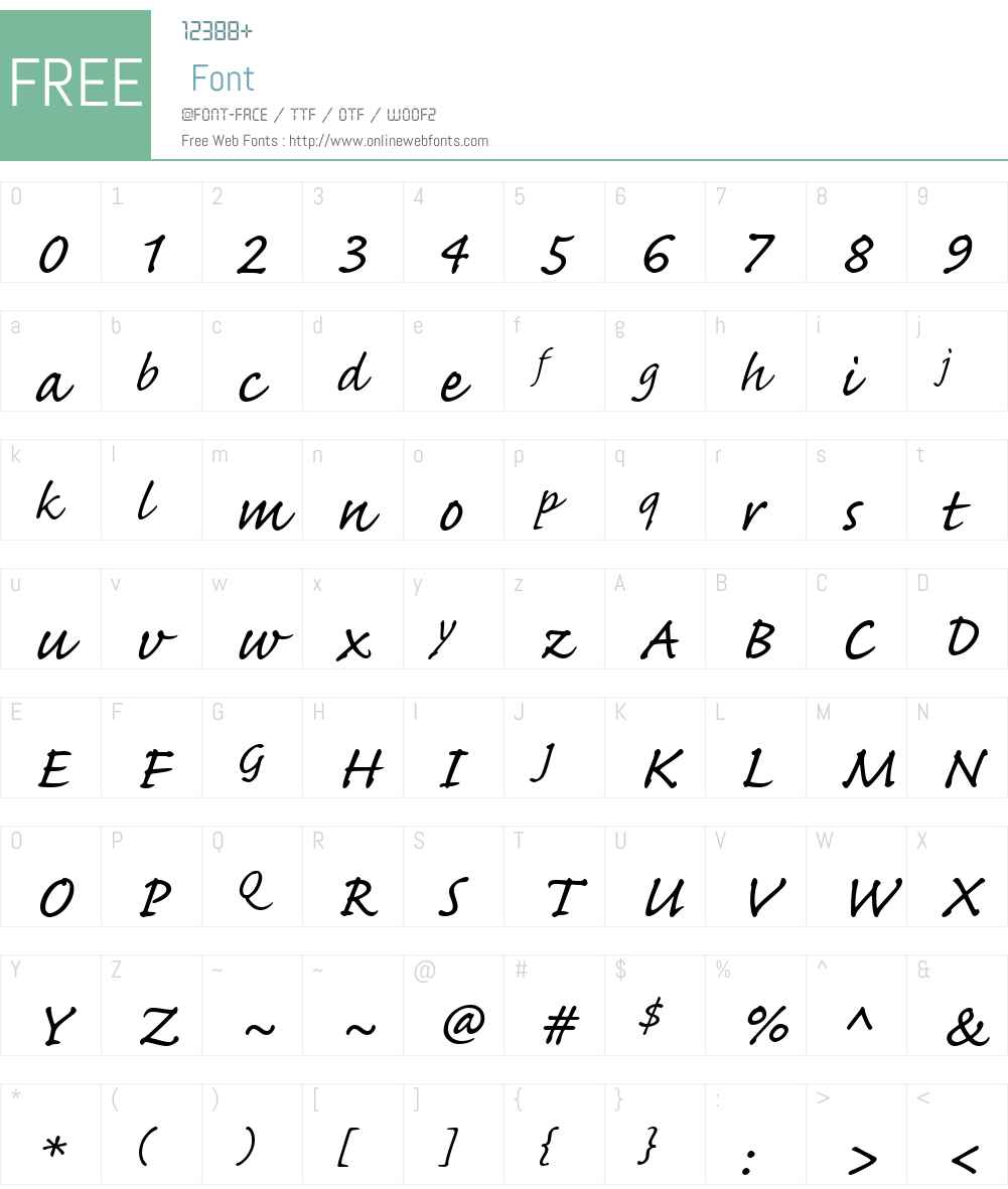 Caflisch Script Web Font Screenshots