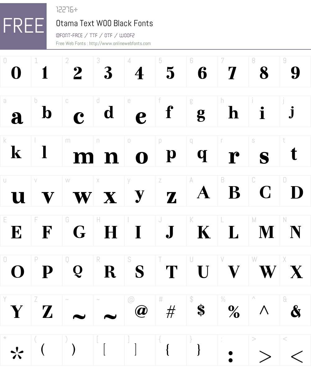 OtamaTextW00-Black Font Screenshots