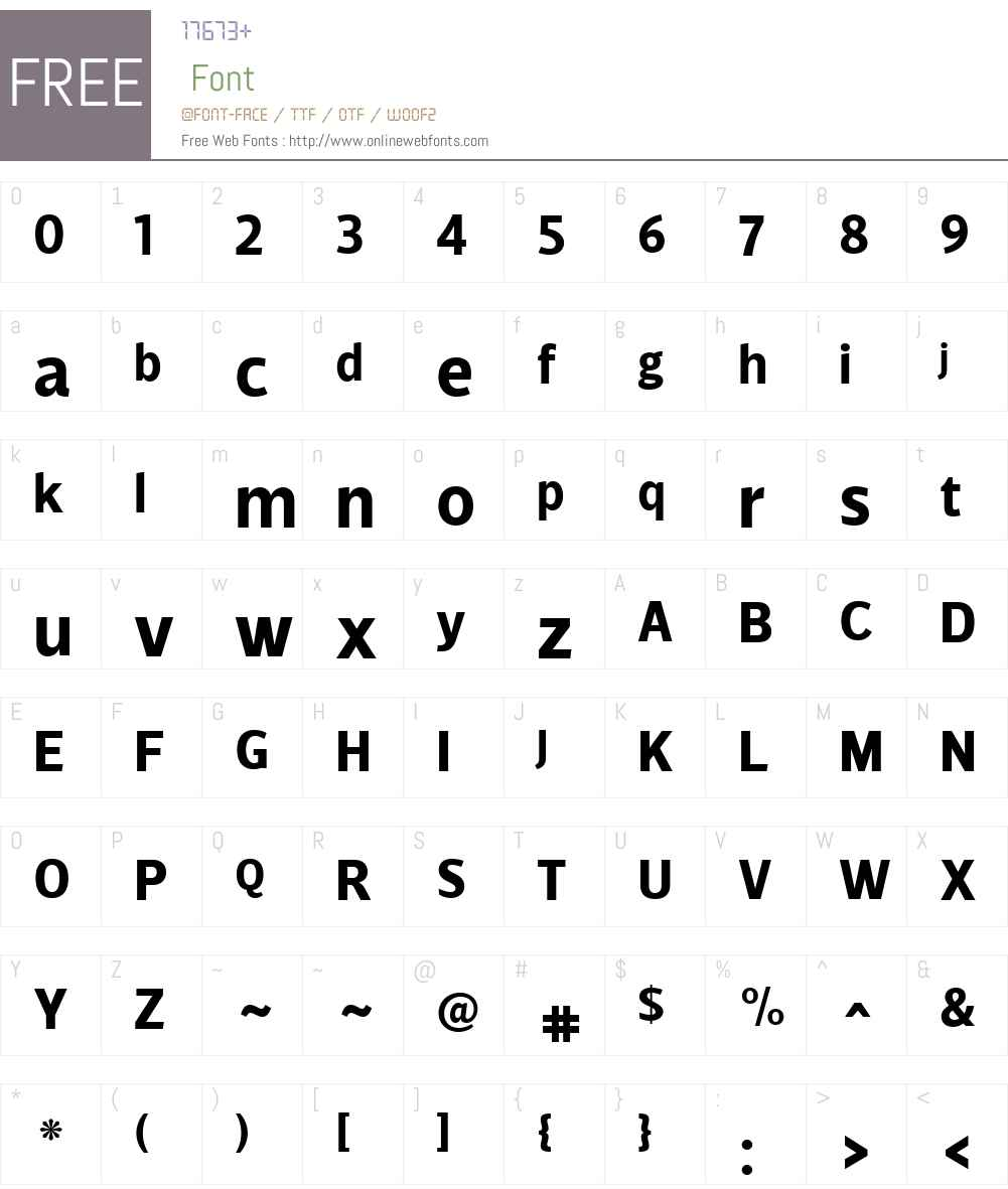 VelinoSansW01-Bold Font Screenshots