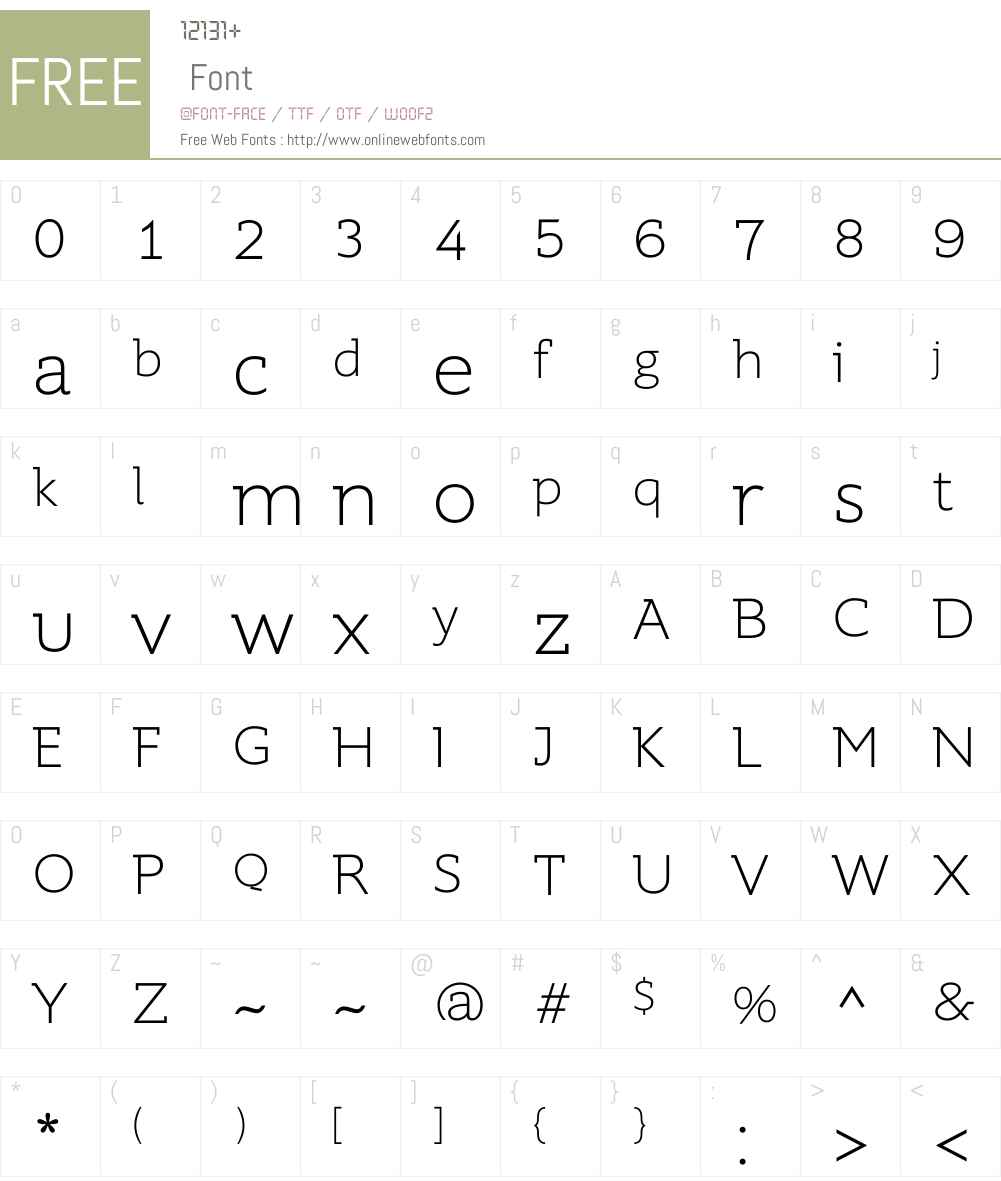 SupraW01-XLightDemiserif Font Screenshots