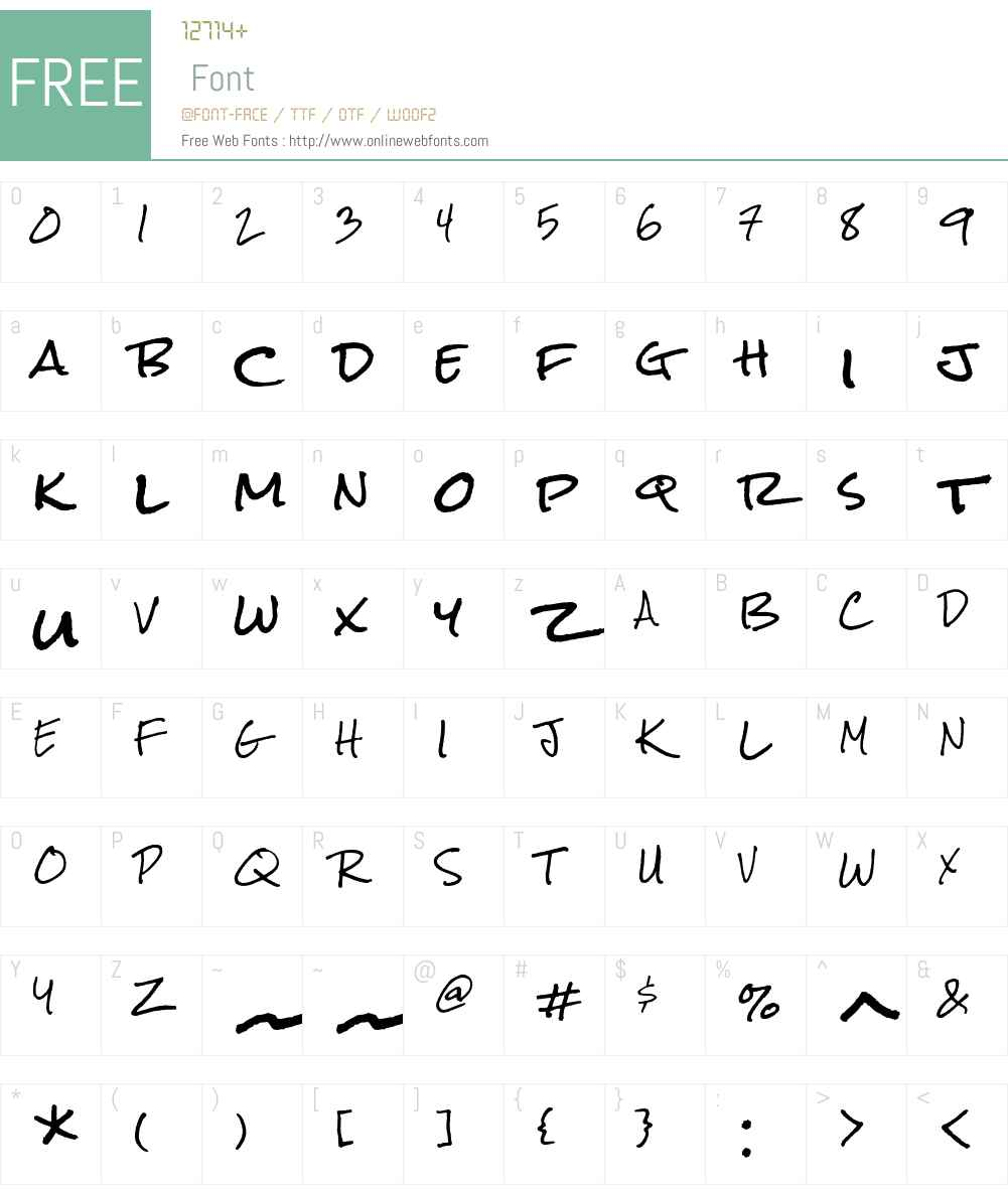 Rock Salt Font Screenshots