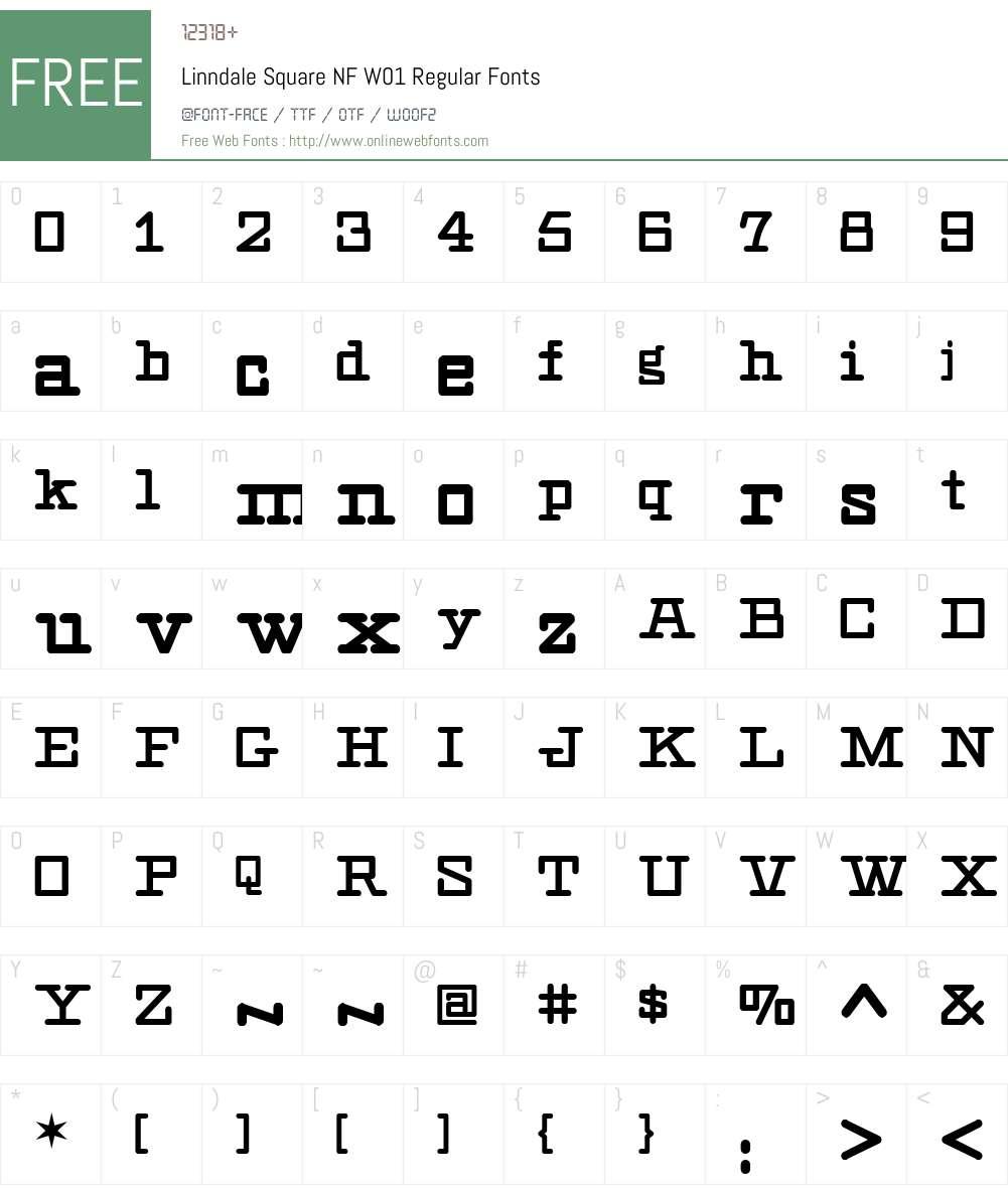 LinndaleSquareNFW01-Regular Font Screenshots