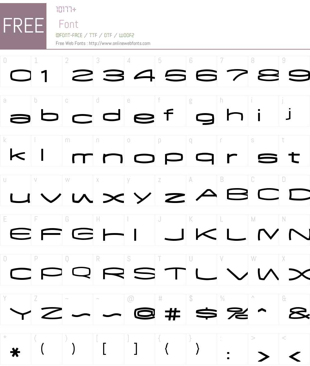 EXCEED Font Screenshots